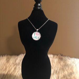 Alpha Kappa Alpha Glass Snapback Necklace